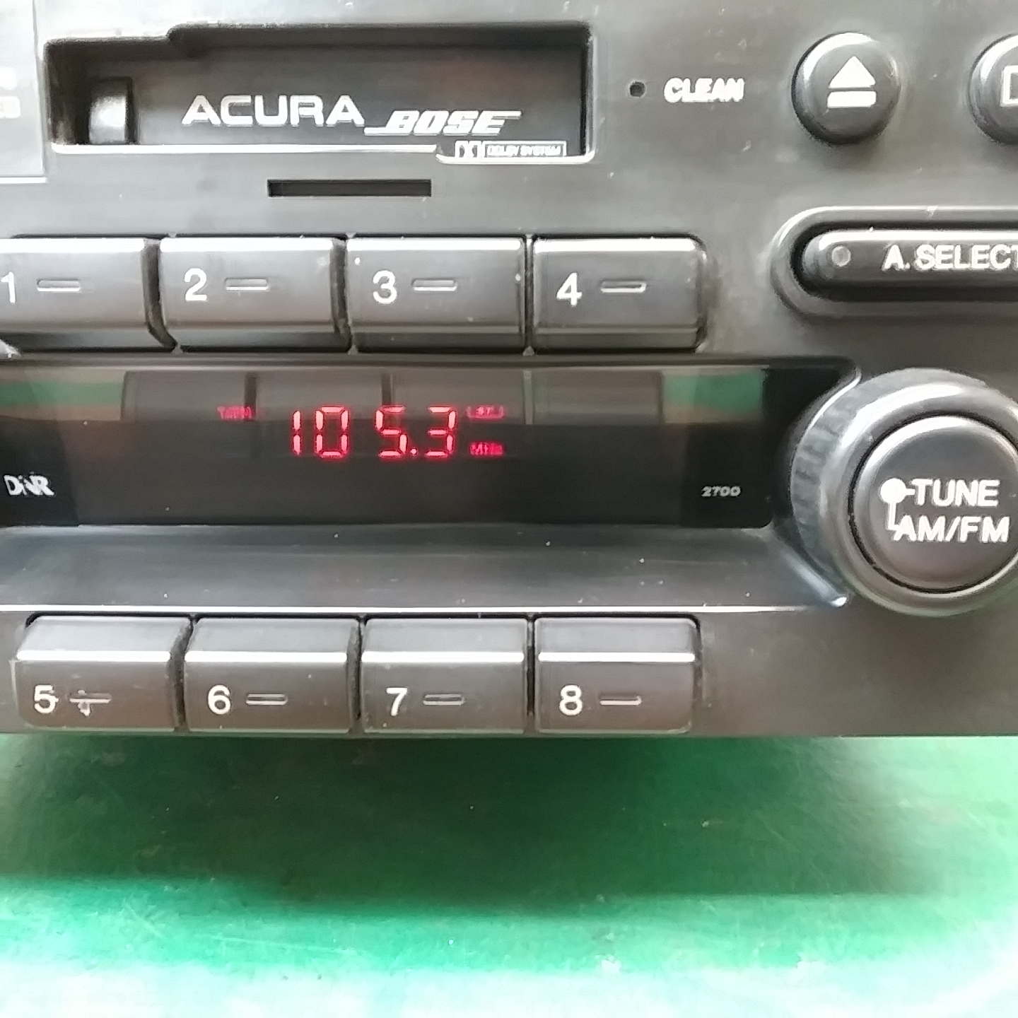 Acura NSX Bose Stereo Upgrade Red Display